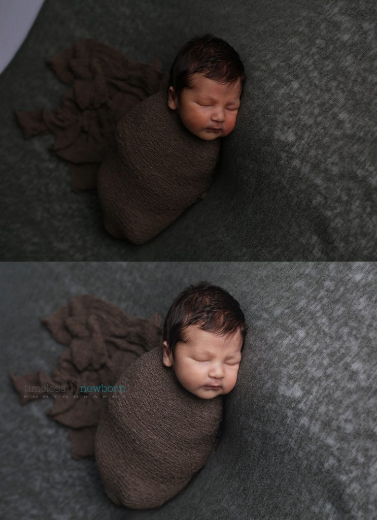 Newborn editing before after